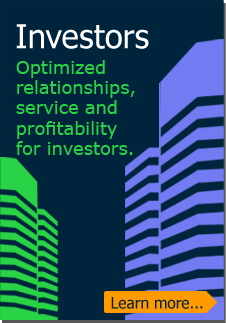 Investors: Optimized relationships, service and profitability for investors. (Learn more)